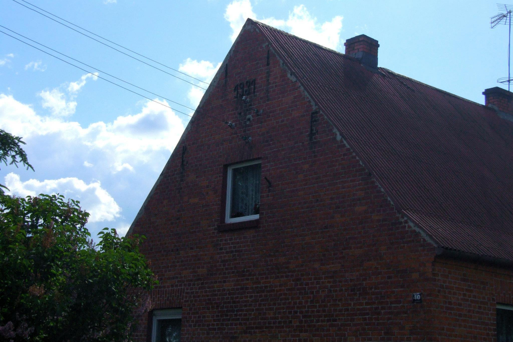 The top of the house